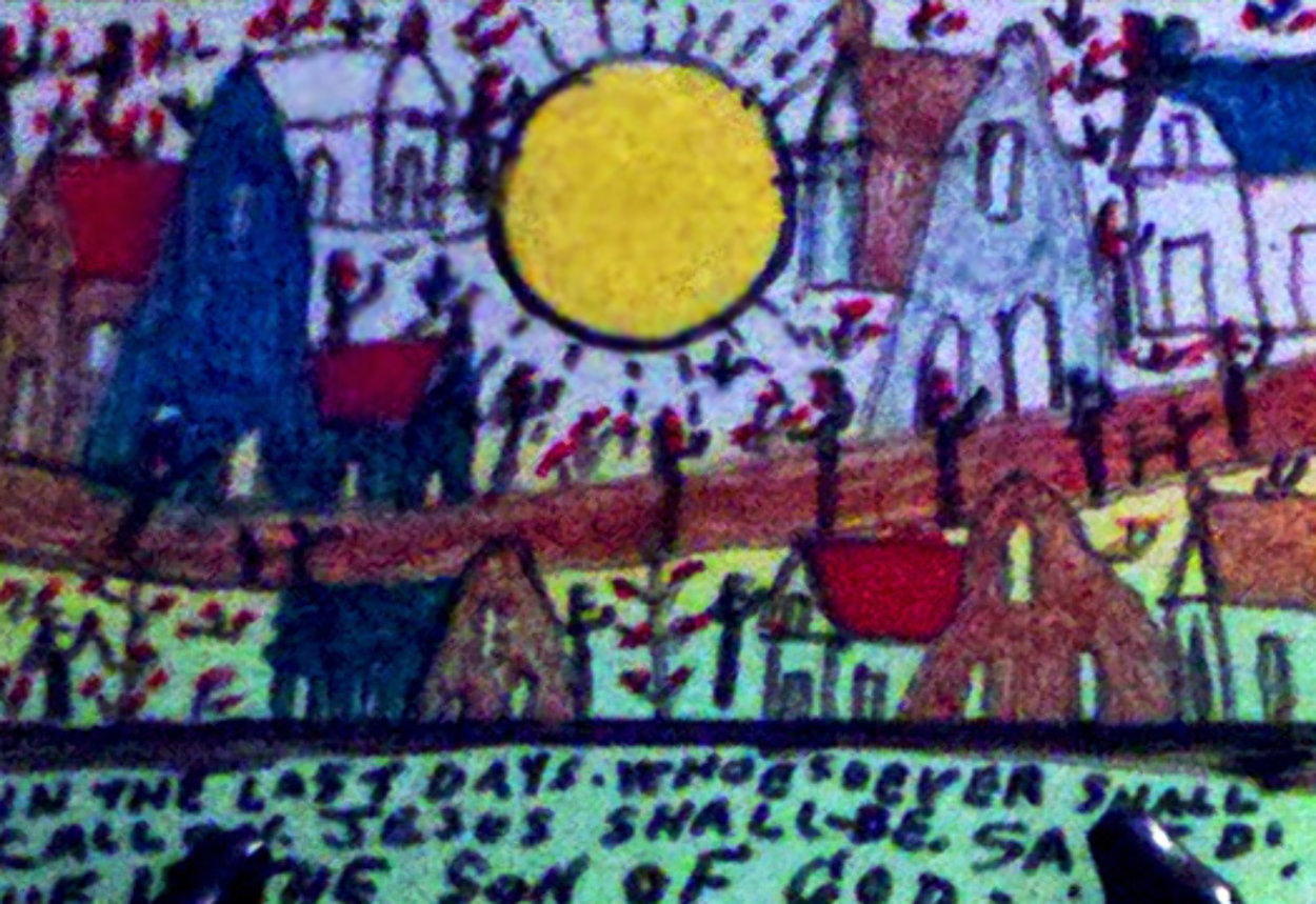 In the Last Days 2000 Original Painting by Howard Finster