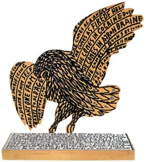 War Eagle Unique 11x9 Sculpture - Howard Finster