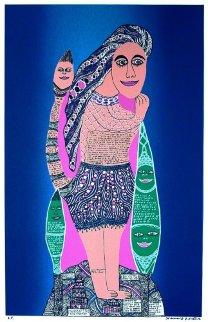 Cow Lady AP 1995 Limited Edition Print - Howard Finster