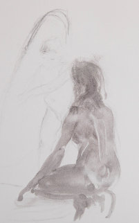 Untitled Monotype 1986 Works on Paper (not prints) by Eric Fischl