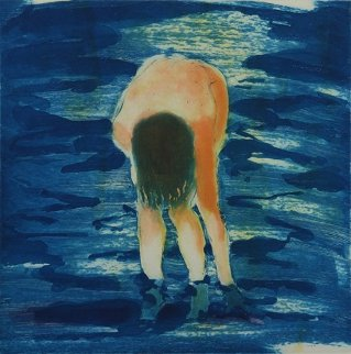Untitled (Boy in Blue Water For the Brooklyn Academy of Music) 1988 Limited Edition Print by Eric Fischl