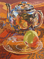 Tea Pot And Apple AP Limited Edition Print - Janet Fish