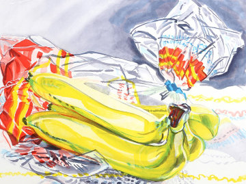 Bag of Bananas 1996 Limited Edition Print - Janet Fish