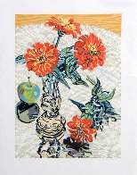 Apples And Zinnias 1995 Limited Edition Print by Janet Fish - 1