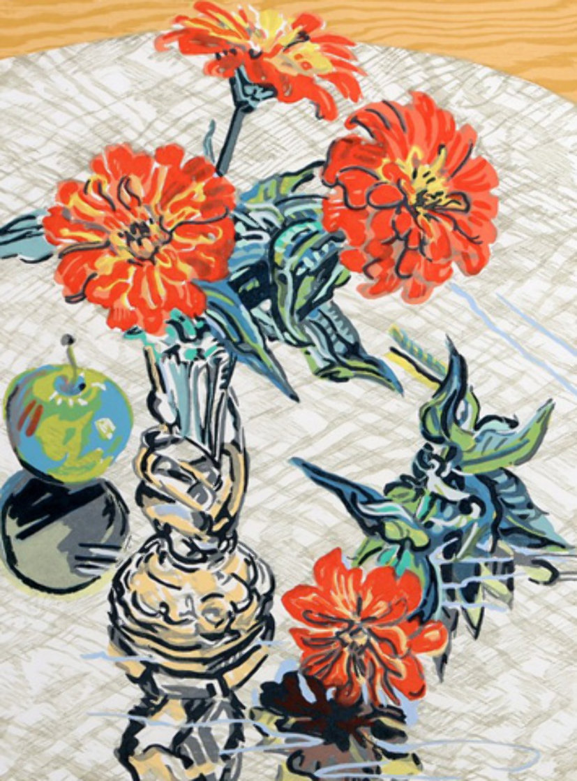 Apples And Zinnias 1995 Limited Edition Print by Janet Fish