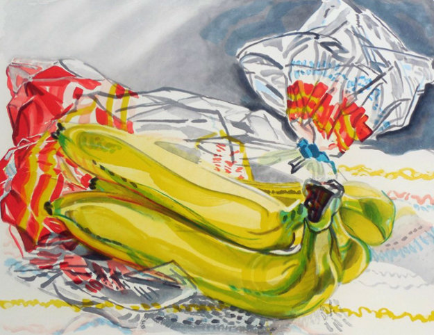 Bag of Bananas 1996 Limited Edition Print by Janet Fish