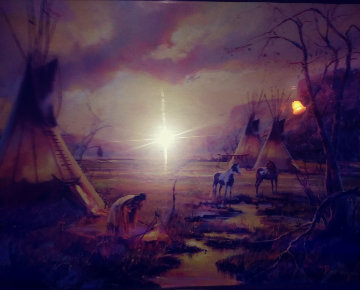 Native American 18x24 Original Painting - Hulan Fleming