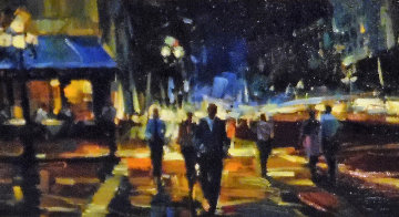 Walk About Town 2009 12x36 Original Painting by Michael Flohr