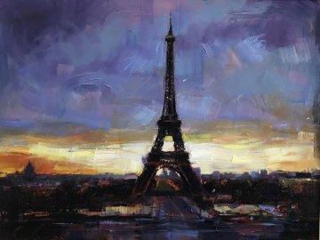 Beautiful Paris 2012 59x42 Original Painting - Michael Flohr