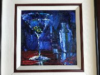 Shaken With Two Olives 2009 22x22 Original Painting by Michael Flohr - 1