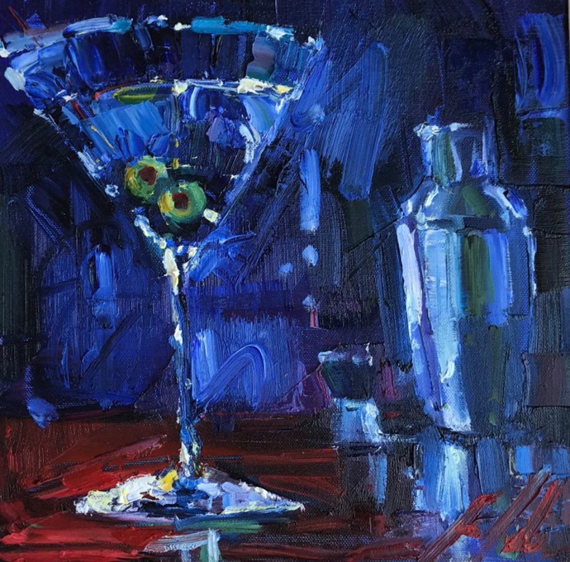 Shaken With Two Olives 2009 22x22 Original Painting by Michael Flohr