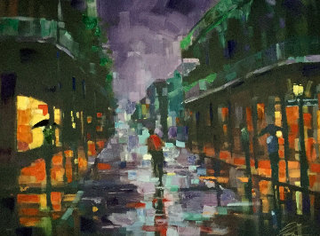 Royal Street 2004 Embellished   Limited Edition Print - Michael Flohr