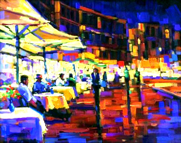 Cappuccino With Friends 2005 Embellished Limited Edition Print - Michael Flohr