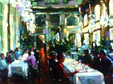 Crystal Cafe 2006 Embellished Limited Edition Print - Michael Flohr
