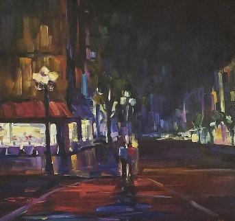 Rendezvous 43x43 Huge Original Painting - Michael Flohr
