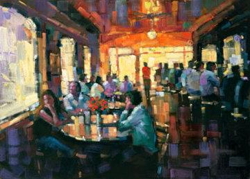 Sunset Grill Embellished Huge Limited Edition Print - Michael Flohr