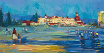 Coronado Beach Walk 2007 12x72 Super Huge Limited Edition Print - Michael Flohr