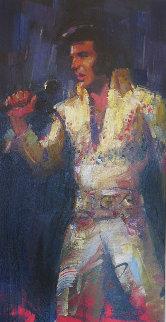 Elvis 2012 48x30 Huge  Original Painting - Michael Flohr
