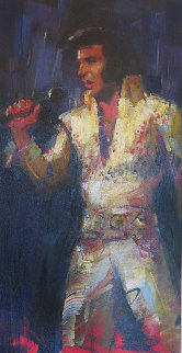 Elvis 2012 48x30 Super Huge  Original Painting - Michael Flohr