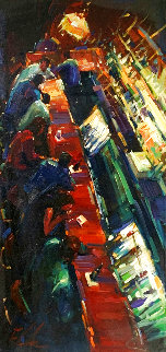 Liquid Conversations 2008 30x48 Huge Original Painting - Michael Flohr