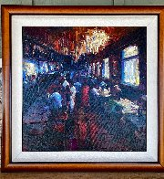 Untitled Painting 2010 38x38 Huge Original Painting by Michael Flohr - 1
