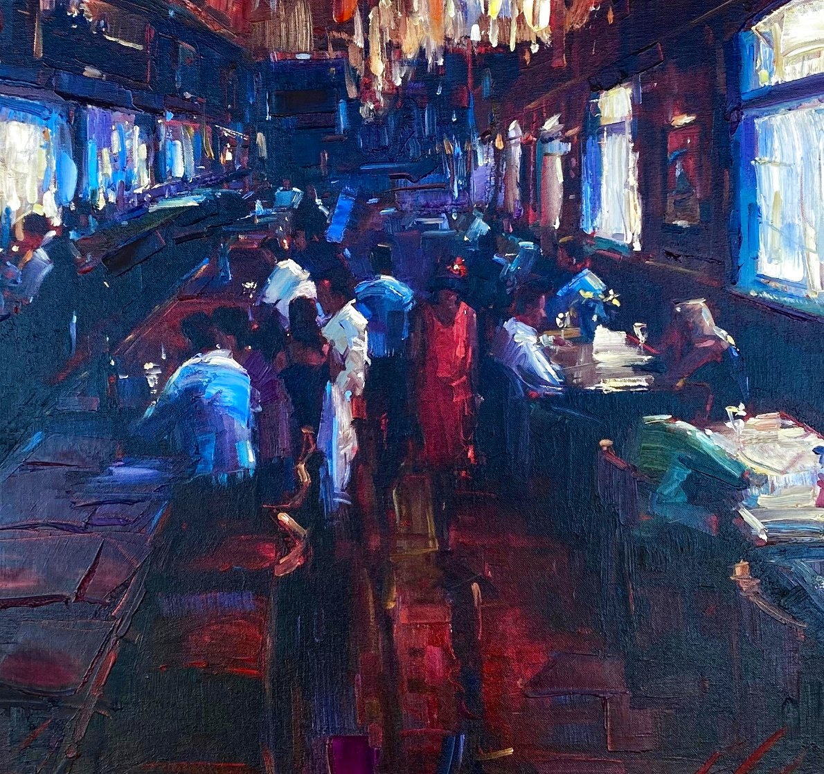 Untitled Painting 2010 38x38 Huge Original Painting by Michael Flohr