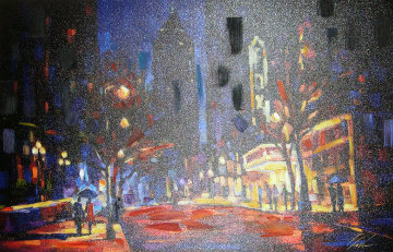 Night at the Fox Embellished 2005 Super Huge Limited Edition Print - Michael Flohr