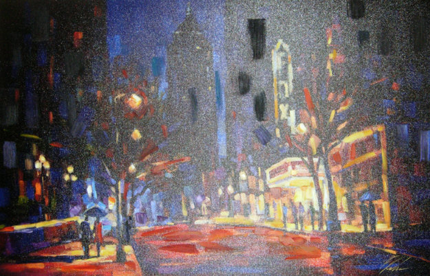 Night at the Fox Embellished 2005 Limited Edition Print by Michael Flohr