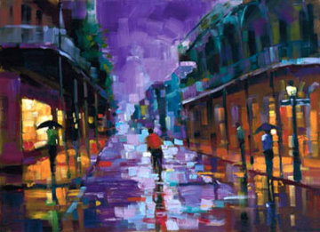 Royal Street, New Orleans Embellished Limited Edition Print - Michael Flohr