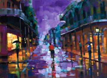 Royal Street, New Orleans Embellished 2004 Huge Limited Edition Print - Michael Flohr