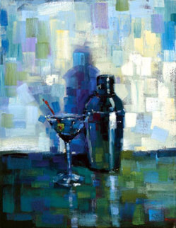 Martini for Me AP Embellished Limited Edition Print - Michael Flohr