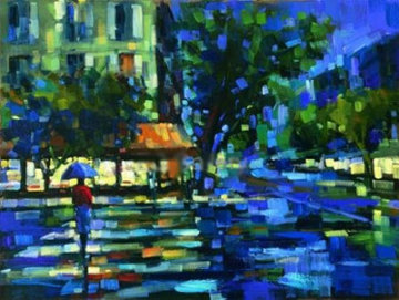Parisian Nights Embellished Limited Edition Print by Michael Flohr