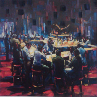 Stock Talk 2003  Limited Edition Print by Michael Flohr