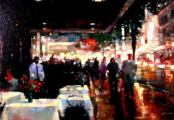 Night Life 2004 Embellished Limited Edition Print - Michael Flohr