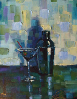Martini for Me Embellished Limited Edition Print - Michael Flohr