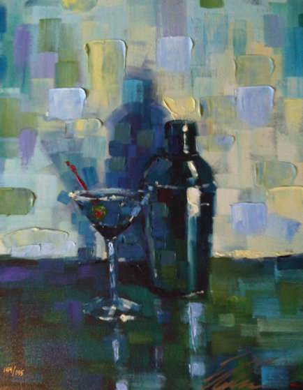 Martini for Me Embellished Limited Edition Print by Michael Flohr