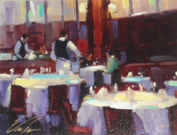 Table for Two 2005 Embellished Limited Edition Print by Michael Flohr