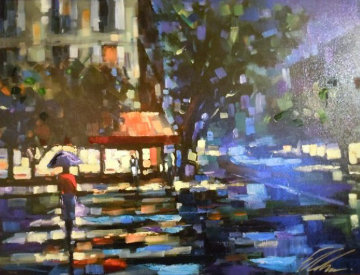 Parisian Nights Embellished Limited Edition Print - Michael Flohr