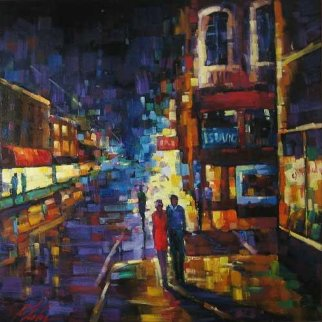Expressions of the City, Book Cover 2004 60x60  Original Painting - Michael Flohr