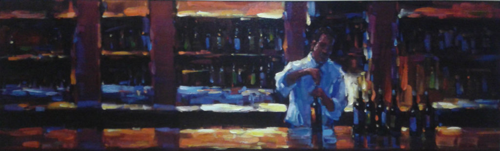 Uncorked 2007 Embellished Limited Edition Print by Michael Flohr