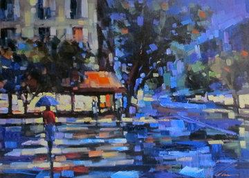 Parisian Nights Embellished Limited Edition Print - Michael Flohr