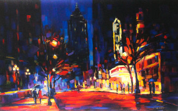 Night At the Fox Embellished Limited Edition Print by Michael Flohr