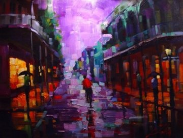 Royal Street, New Orleans 2004 Embellished Limited Edition Print - Michael Flohr