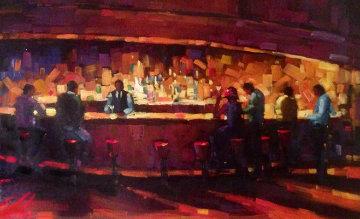 Golden Hour 2004 60x42  Original Painting - Michael Flohr