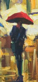 Timeless Walk 2008 34x18  Original Painting - Michael Flohr