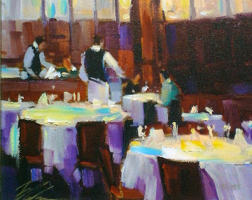 Table For Two 2006 Embellished Limited Edition Print - Michael Flohr