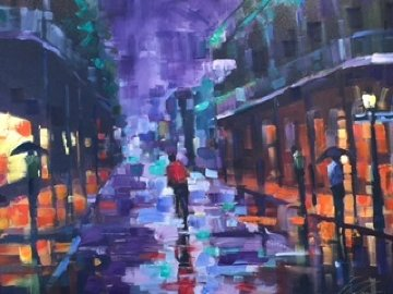 Royal Street New Orleans 2004 Embellished Limited Edition Print by Michael Flohr