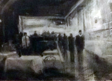 Nightlife in San Diego Drawing 2004 44x37  Drawing - Michael Flohr