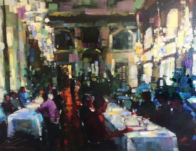 Crystal Cafe Embellished 2006 Limited Edition Print by Michael Flohr