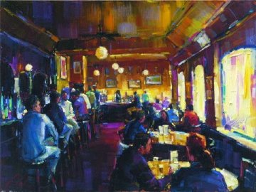 Happy Hour Enbellished 2008 Limited Edition Print - Michael Flohr